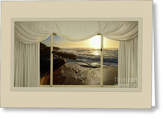 Beach Sunrise From Your Home Or Office By Kaye Menner Greeting Card
