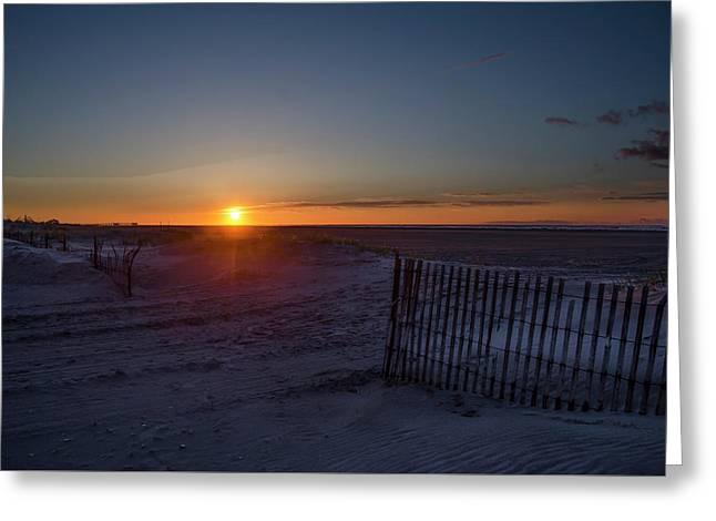 Beach Sunrise - Wildwood Crest Greeting Card
