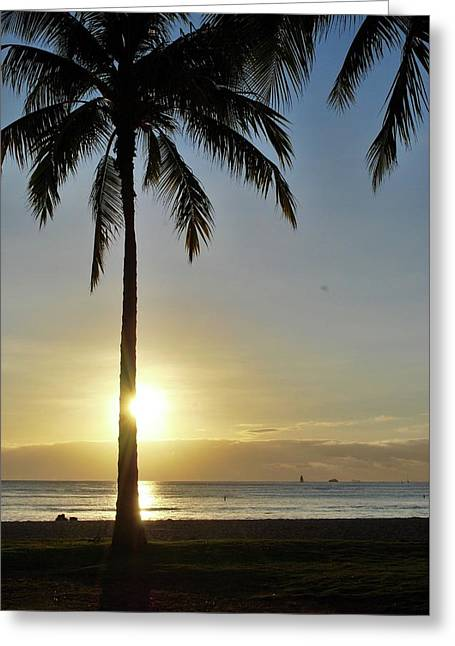 Greeting Card featuring the photograph Beach Sunset by Amee Cave