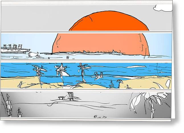 Beach Sunset Greeting Card