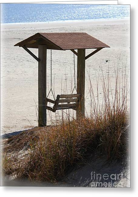 Beach Swing Greeting Card by Carol Groenen