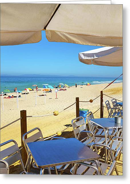 Beach Terrace Greeting Card by Carlos Caetano