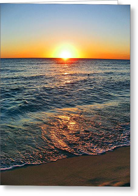 Beach Texture. Sun, Greeting Card by Andy Za