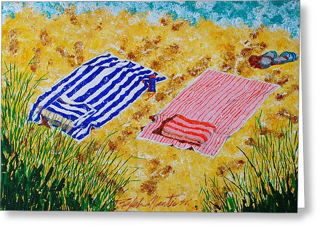 Beach Towels  Greeting Card