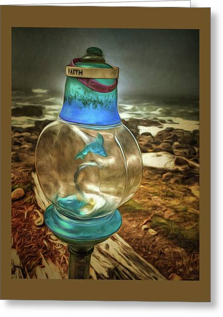Beach Treasures - Faith Greeting Card by Thom Zehrfeld