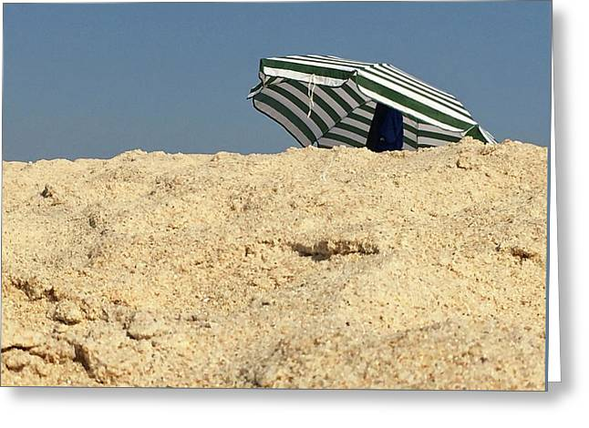 Beach Umbrella Greeting Card by Contemporary Art