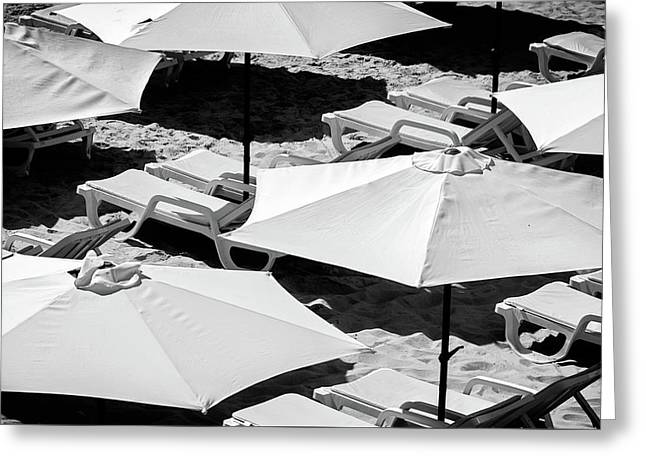 Greeting Card featuring the photograph Beach Umbrellas by Marion McCristall