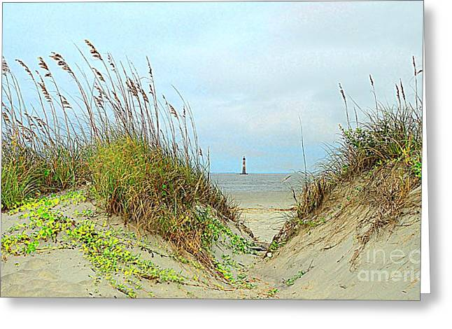 Beach View Greeting Card by Kathleen Struckle