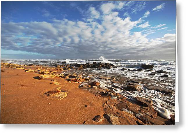 Beach View Greeting Card by Robert Och
