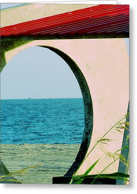 Beach View Greeting Card by Tony Grider