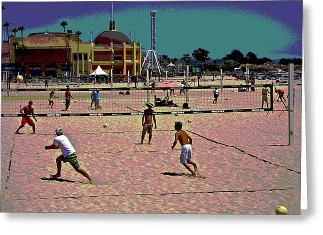 Beach Volleyball Greeting Card