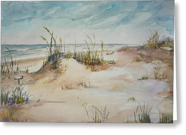 Beach Walk Greeting Card by Dorothy Herron