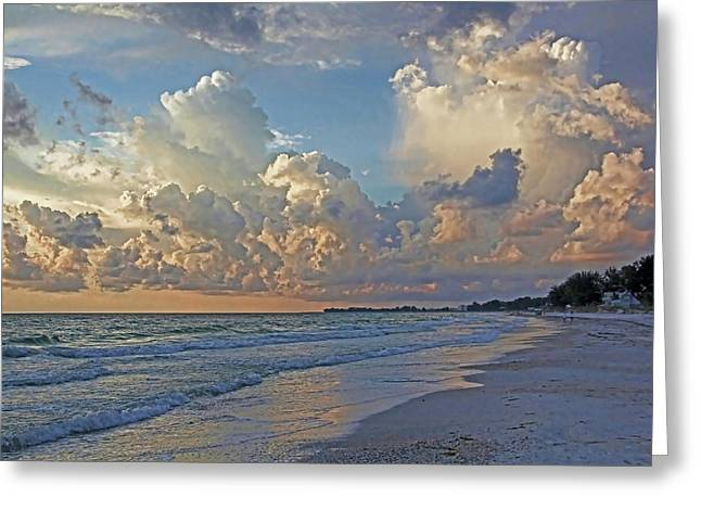 Beach Walk Greeting Card by HH Photography of Florida