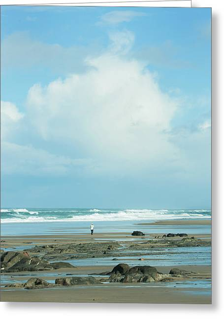 Greeting Card featuring the photograph Beach Walk by Mary Jo Allen