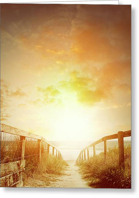 Beach Walkway 2 Greeting Card