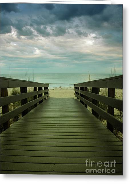Bridge To Beach Greeting Card