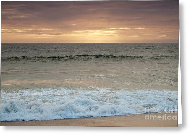Beach Waves After Sunset Greeting Card