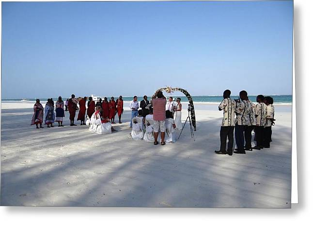 Beach Wedding In Kenya Greeting Card