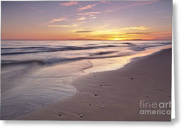 Beach Welcoming Twilight Greeting Card