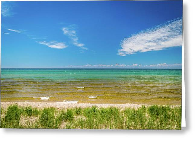 Beach With Blue Skies And Cloud Greeting Card