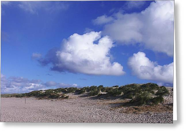 Beach With Clouds Greeting Card by Sascha Meyer