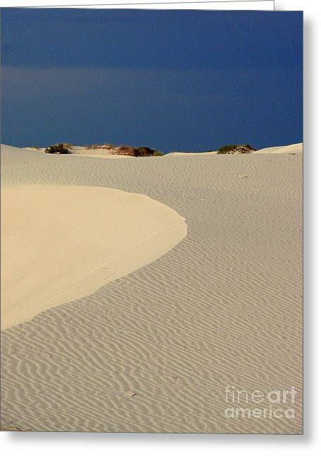 Beach With No Water Greeting Card by Mark Grayden