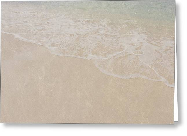 Beach With Vintage Style Filter Greeting Card by Brandon Bourdages