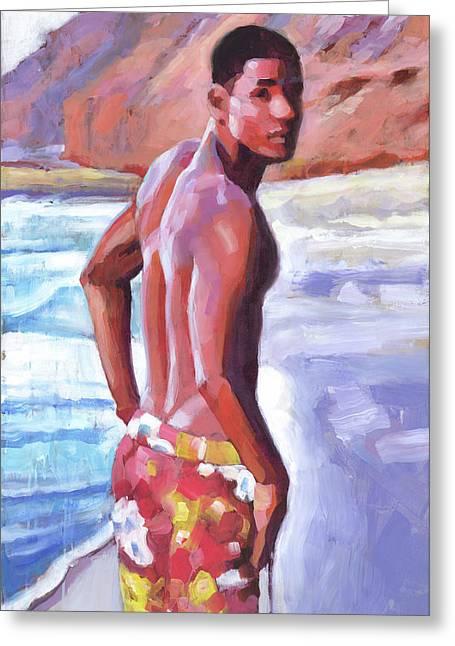 Beachboy Sunrise Greeting Card