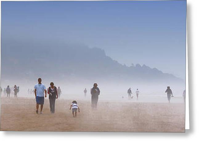 Beachcombers On Cannon Beach Greeting Card by David Patterson