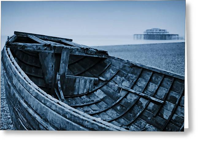 Beached At Brighton Greeting Card by Tony Grider