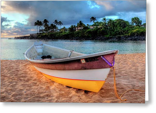 Beached Boat 4 Greeting Card by Sean Davey