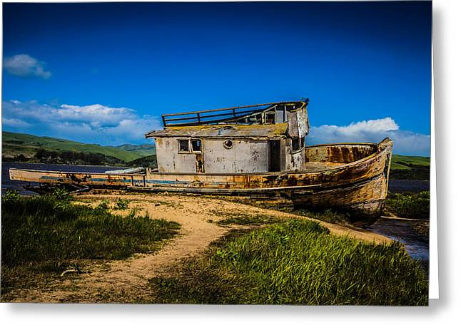 Beached Boat Greeting Card by Garry Gay