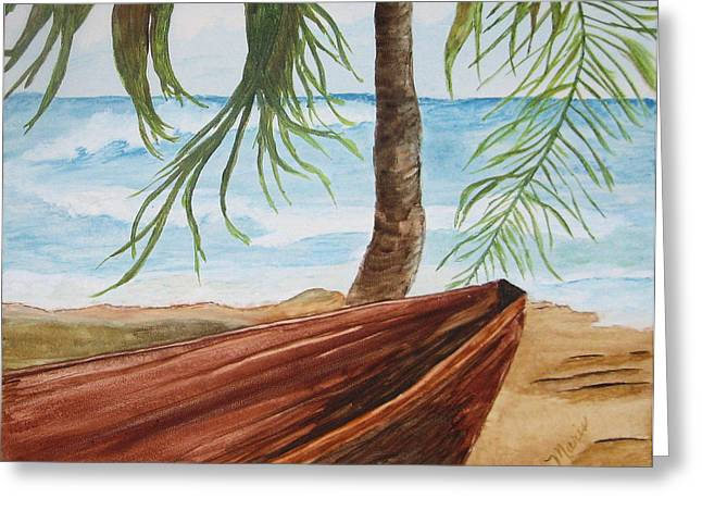 Beached Boat Greeting Card by Maris Sherwood