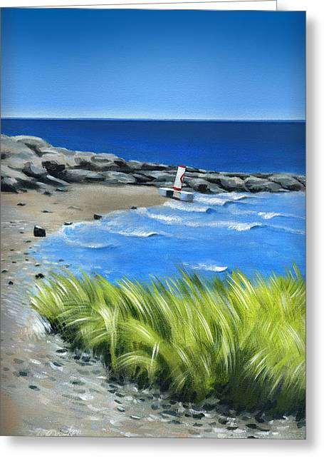 Beached Buoy Greeting Card