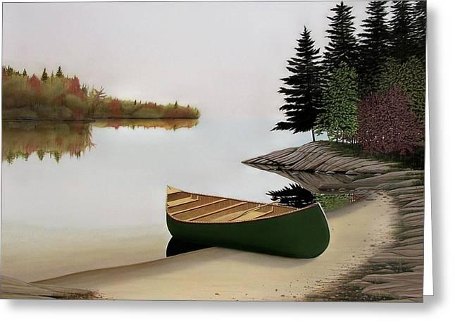 Beached Canoe In Muskoka Greeting Card