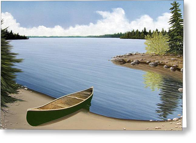 Beached In Ontario Greeting Card by Kenneth M  Kirsch