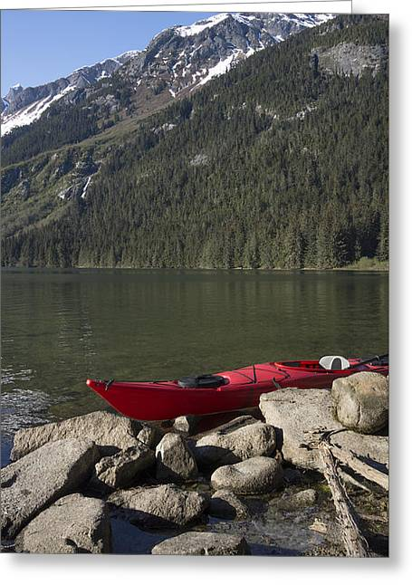 Beached Kayak In Alaska Greeting Card