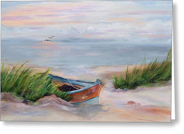Beached Greeting Card by Shirley Lawing