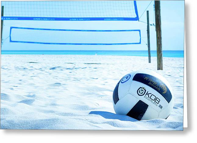 Volleyball On The Beach Greeting Card