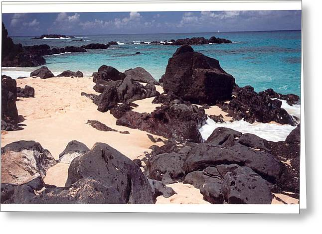 Beaches Of Hawaii Greeting Card by Lori Mellen-Pagliaro