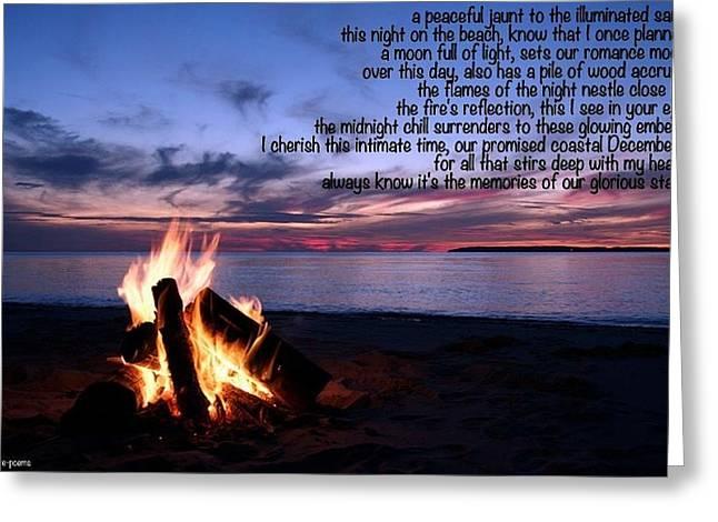 Beachside Greeting Card by David Norman