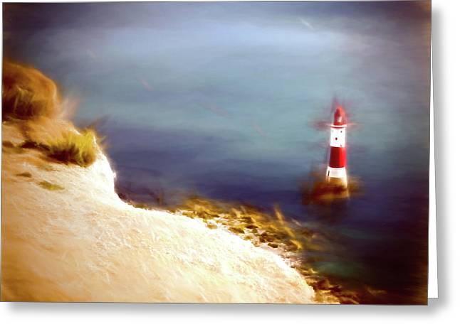 Beachy Head Lighthouse Greeting Card by Sharon Lisa Clarke