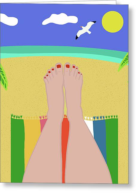 Beachy Keen Greeting Card by Nicole Wilson