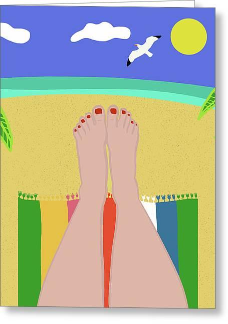 Beachy Keen Greeting Card by Nicole Wilson