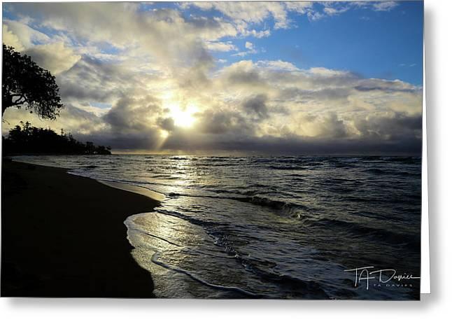 Beachy Morning Greeting Card