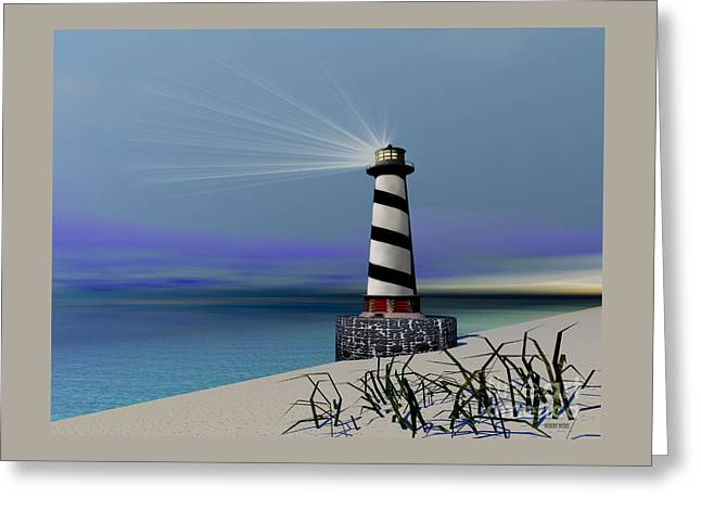 Beacon Greeting Card by Corey Ford