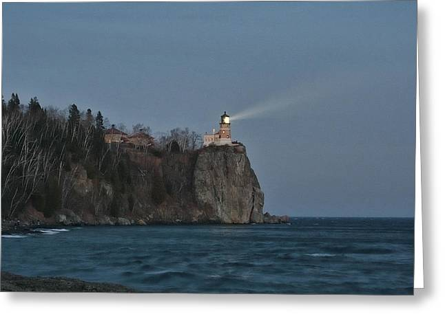Beacon Lighting Greeting Card by Laurie Prentice