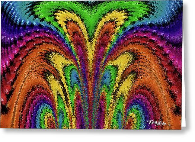 Bead Morphs Abstract Brush #125 Greeting Card