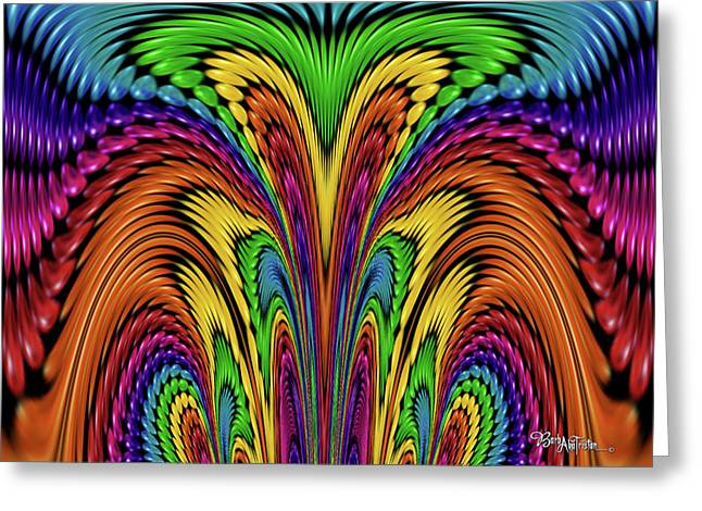 Bead Morphs Abstract Design #124 Greeting Card