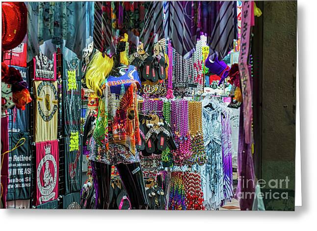 Bead Shops On Bourbon Street Greeting Card